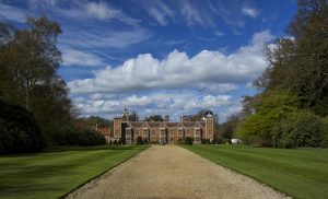 This image emphasises the dramatic nature and vital history of this imposing Jacobean manor house. Blickling Hall in Norfolk, UK, was the residence and possible birthplace of Anne Boleyn.